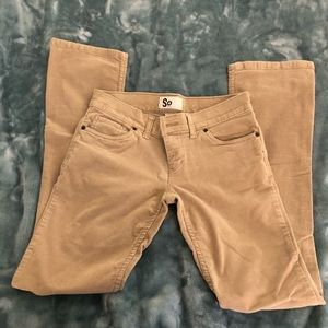 SO brand tan corduroy pants size 5 - slight flare